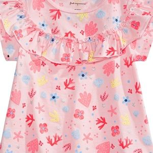 First Impressions Shirts & Tops - NWT First Impressions Shell Print Ruffle Top 12mo
